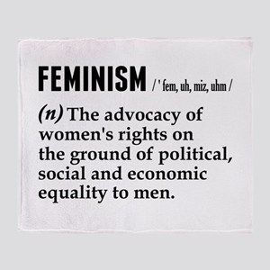 Feminism Noun Throw Blanket