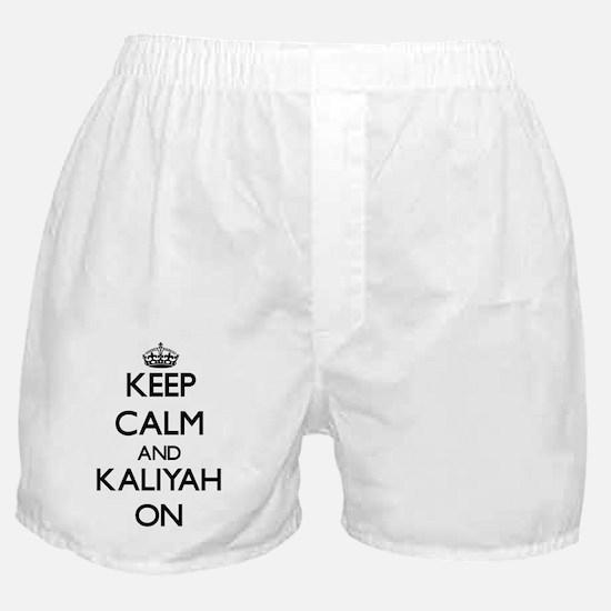 Keep Calm and Kaliyah ON Boxer Shorts