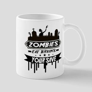 zombies eat brainss Mugs