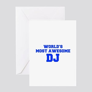 WORLD'S MOST AWESOME DJ-Fre blue 600 Greeting Card