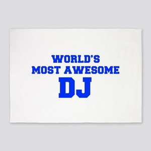 WORLD'S MOST AWESOME DJ-Fre blue 600 5'x7'Area Rug