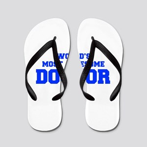 WORLD'S MOST AWESOME Doctor-Fre blue 600 Flip Flop