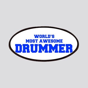 WORLD'S MOST AWESOME Drummer-Fre blue 600 Patch