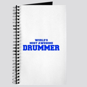 WORLD'S MOST AWESOME Drummer-Fre blue 600 Journal