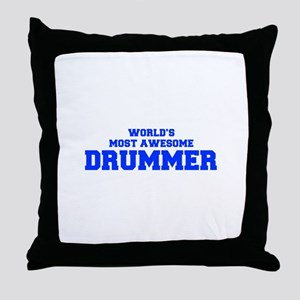WORLD'S MOST AWESOME Drummer-Fre blue 600 Throw Pi