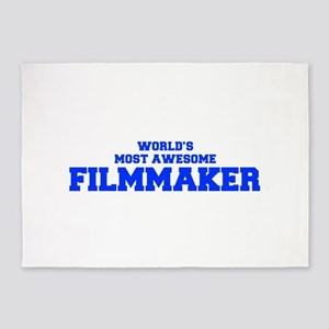 WORLD'S MOST AWESOME Filmmaker-Fre blue 600 5'x7'A
