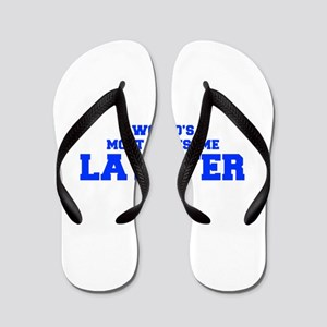 WORLD'S MOST AWESOME Lawyer-Fre blue 600 Flip Flop