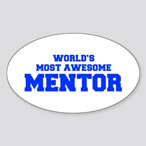 WORLD'S MOST AWESOME Mentor-Fre blue 600 Sticker