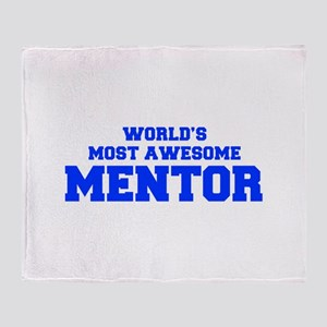 WORLD'S MOST AWESOME Mentor-Fre blue 600 Throw Bla