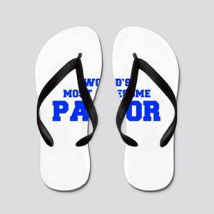 WORLD'S MOST AWESOME Pastor-Fre blue 600 Flip Flop