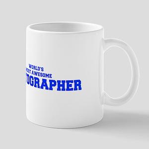 WORLD'S MOST AWESOME Photographer-Fre blue 600 Mug