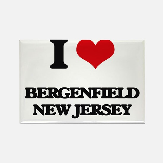 I love Bergenfield New Jersey Magnets