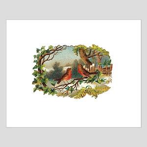 Victorian Winter Scene - Birds Small Poster