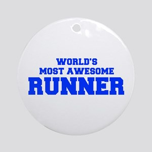 WORLD'S MOST AWESOME Runner-Fre blue 600 Ornament