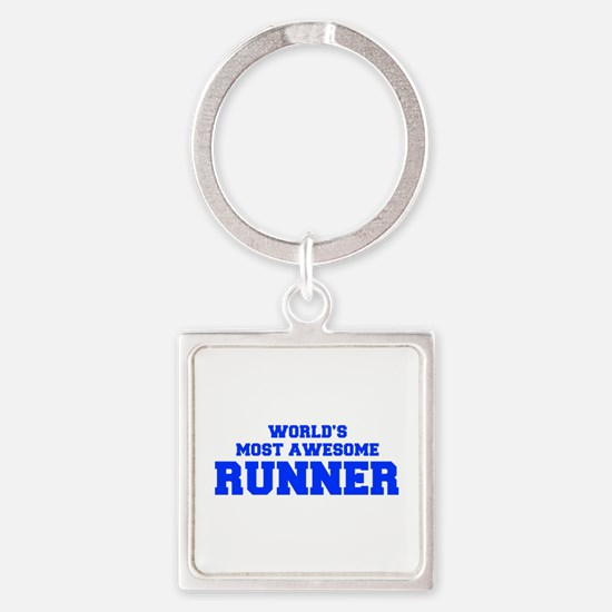 WORLD'S MOST AWESOME Runner-Fre blue 600 Keychains
