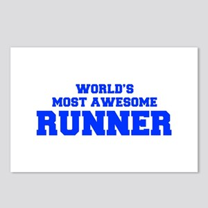 WORLD'S MOST AWESOME Runner-Fre blue 600 Postcards