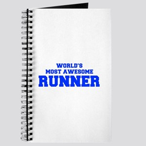 WORLD'S MOST AWESOME Runner-Fre blue 600 Journal
