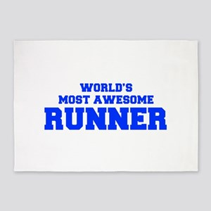 WORLD'S MOST AWESOME Runner-Fre blue 600 5'x7'Area