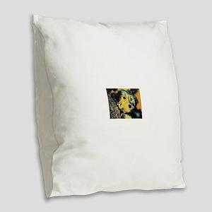 Penny the Yorkie Burlap Throw Pillow