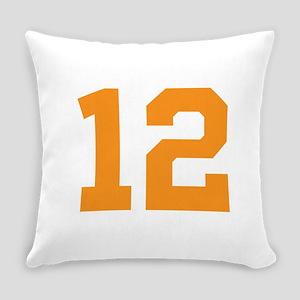 12 ORANGE # TWELVE Everyday Pillow