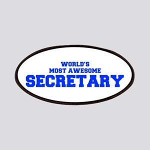 WORLD'S MOST AWESOME Secretary-Fre blue 600 Patch