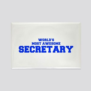 WORLD'S MOST AWESOME Secretary-Fre blue 600 Magnet