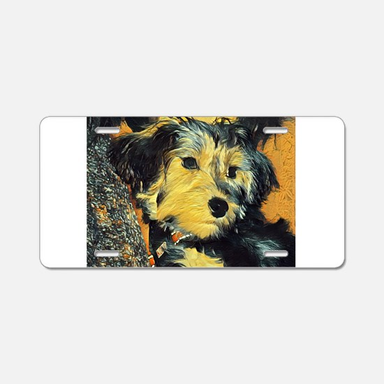 Penny the Yorkie Aluminum License Plate