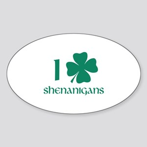 I Shamrock Shenanigans Sticker (Oval)