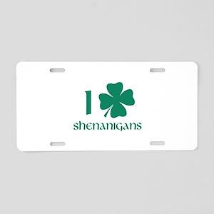 I Shamrock Shenanigans Aluminum License Plate