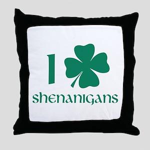 I Shamrock Shenanigans Throw Pillow