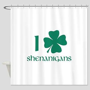 I Shamrock Shenanigans Shower Curtain