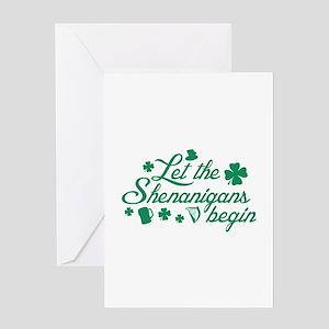 Let The Shenanigans Begin Greeting Card