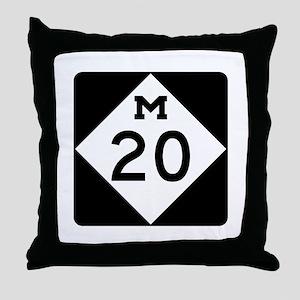 M-20, Michigan Throw Pillow