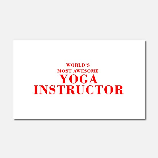 WORLD'S MOST AWESOME Yoga Instructor-Bod red 350 C