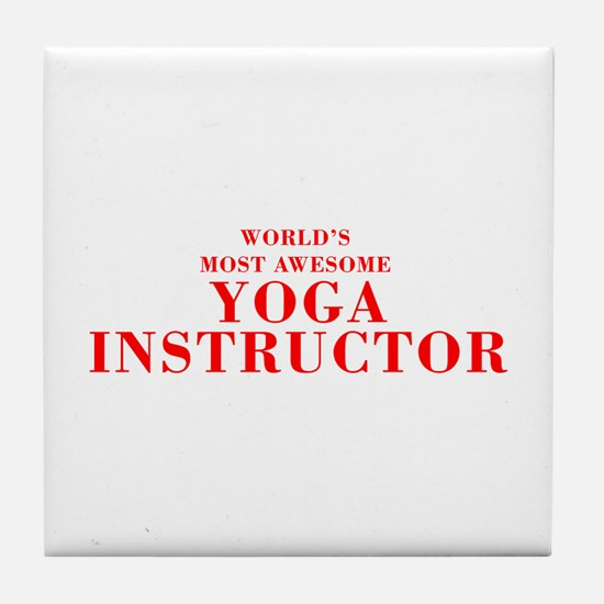 WORLD'S MOST AWESOME Yoga Instructor-Bod red 350 T
