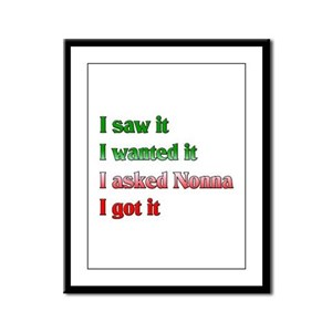 I Asked Nonna Framed Panel Print