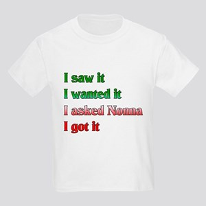 I Asked Nonna Kids Light T-Shirt
