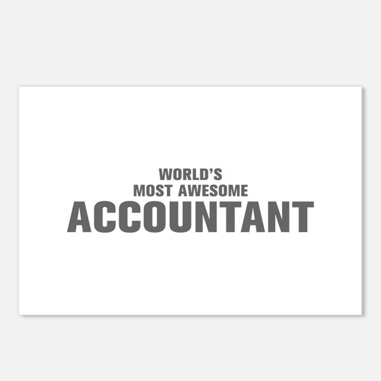 WORLDS MOST AWESOME Accountant-Akz gray 500 Postca