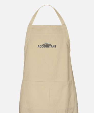 WORLDS MOST AWESOME Accountant-Akz gray 500 Apron