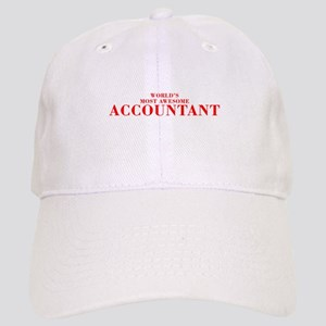 WORLDS MOST AWESOME Accountant-Bod red 300 Basebal