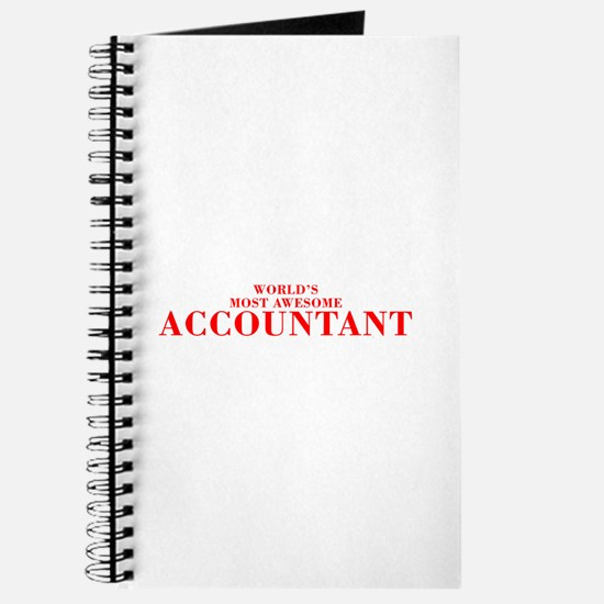 WORLDS MOST AWESOME Accountant-Bod red 300 Journal