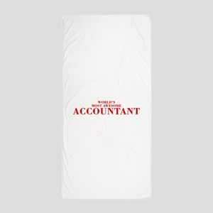 WORLDS MOST AWESOME Accountant-Bod red 300 Beach T
