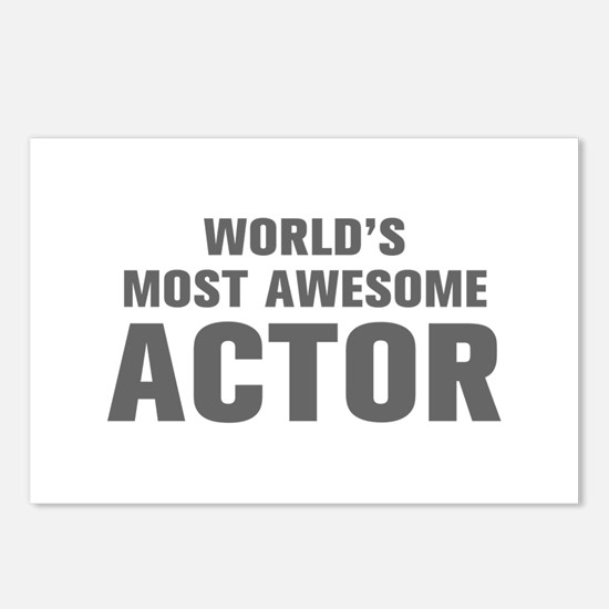 WORLDS MOST AWESOME Actor-Akz gray 500 Postcards (