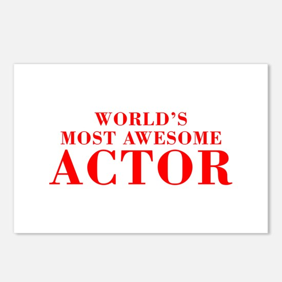 WORLDS MOST AWESOME Actor-Bod red 300 Postcards (P