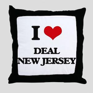 I love Deal New Jersey Throw Pillow