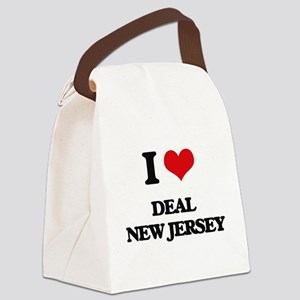 I love Deal New Jersey Canvas Lunch Bag
