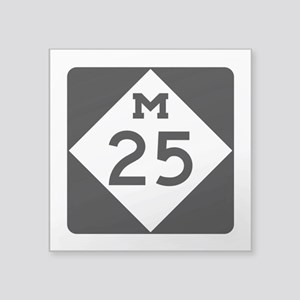 """M-25, Michigan Square Sticker 3"""" x 3"""""""