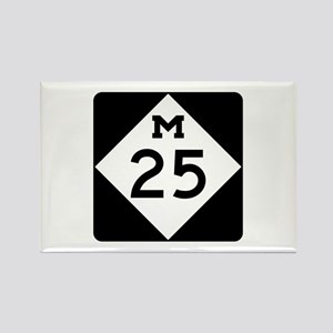 M-25, Michigan Rectangle Magnet