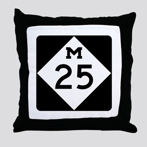 M-25, Michigan Throw Pillow
