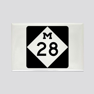 M-28, Michigan Rectangle Magnet